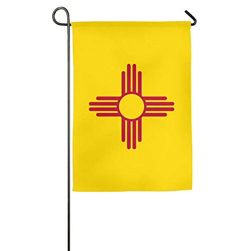 Pingshoes Wear Resistant New Mexico Sun Zia Fall Patio Yard House Garden Flags 12x18 inches Semi Transparent Polyester Fiber ()