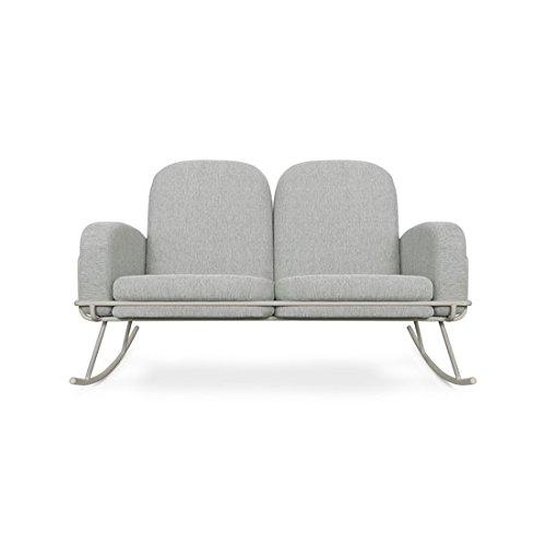 Nursery Works Ami Rocker Double Seat Cushion, Light Grey Weave by Nursery Works
