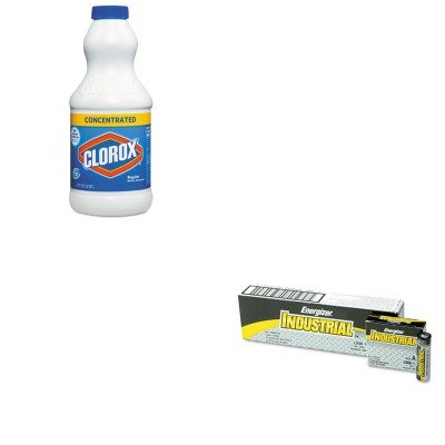 KITCOX30768EVEEN91 - Value Kit - Clorox Concentrated Regular Bleach (COX30768) and Energizer Industrial Alkaline Batteries (EVEEN91)