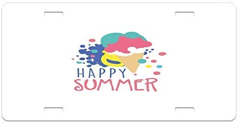 Thin Alluminium MicroToo Visual Attractive Colorful Spring Text Images Been Printed on License Plate Frame as Holiday Decoration 4 Holes Caps Included. 12.25x6.5 Size Screws