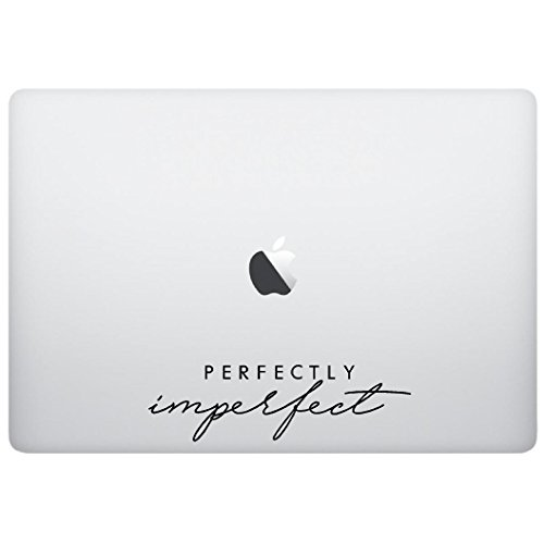 Macbook sticker decal - Perfectly Imperfect - matte black skins stickers -