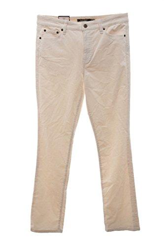 Ivory Corduroy (Lauren Ralph Lauren Womens Corduroy Straight Fit Corduroy Pants Ivory 12/32)