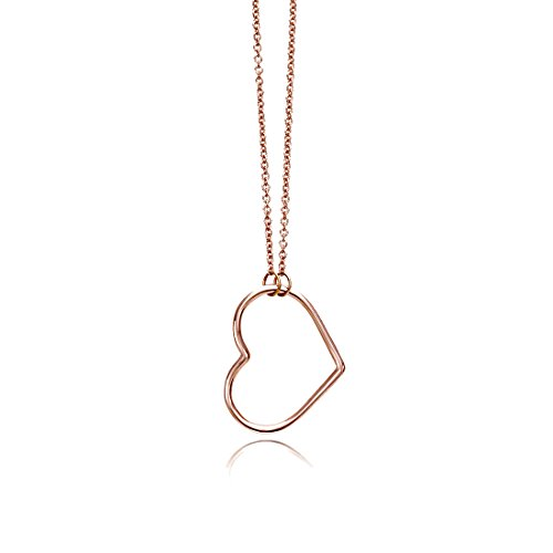 - SEVEN50 Heart Charm Mini Love Necklace Rose Gold Extremely Durable 9K Rose Gold Real Classic Gift Box