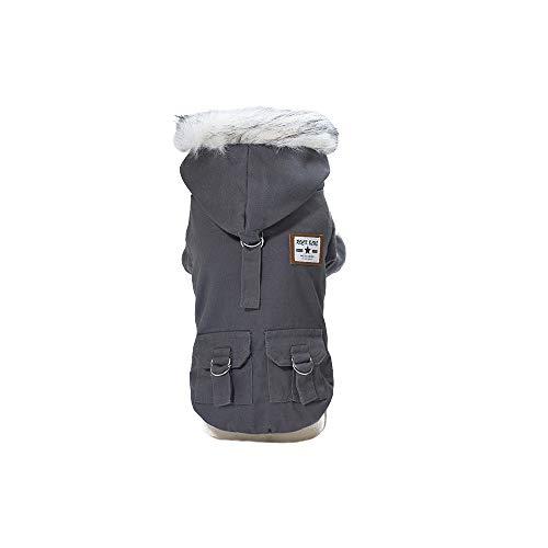 Yeefant Pet Dog Military Style Cotton Coat with Hat Fashion