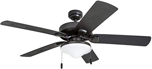 Honeywell Belmar Outdoor LED Ceiling Fan with LED Light, Waterproof, Damp-Rated, 52' Dark Bronze