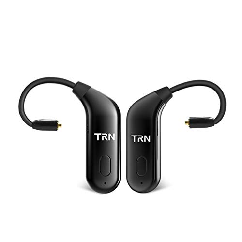 OKCSC BT20 Bluetooth 5.0 Earphone Cable,Wireless Earbuds Ear Hook Adapter,MMCX Cable Detachable in Ear Headset Connector 6 Hours Playback for SHURE SE215 SE315 SE846 MMCX Jack