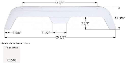 ICON Polar White 65.75 Inch x 13.88 Inch 01540 Tandem Axle Fender Skirt FS750 for Fleetwood