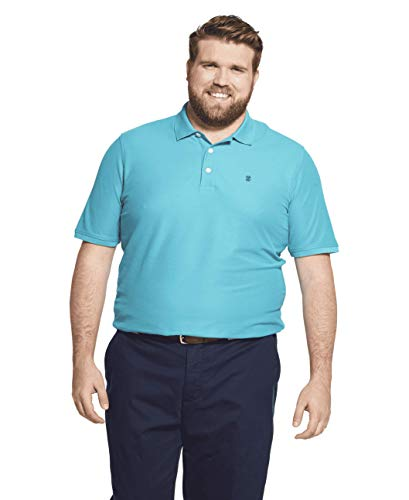 Polo Mens Solid Shirt - IZOD Men's Big and Tall Advantage Performance Solid Polo Shirt,  Blue Radiance, 3X-Large Big