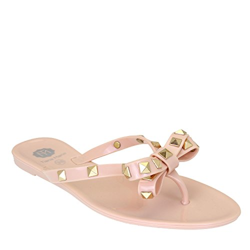 Tiana Marie - Zapatos con tacón mujer color carne