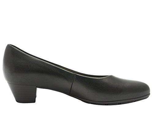 Gabor Piel Zapatos negro mujer de para de 35400 vestir Negro 27 rSRnrYa