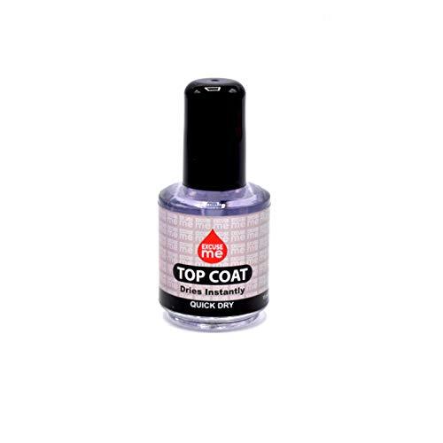 Excuse Me Quick Dry Fast Nail Polish Top Coat 0.5 oz 15ml