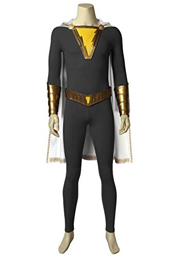 cosdream Captain Marvel Shazam Costume Freddy Freeman Cosplay Halloween Adult Outfit (Full set no boots,S) ()