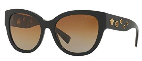 Versace Womens Sunglasses (VE4314) Black/Brown Acetate - Polarized - - Versace Womens Sunglasses Polarized