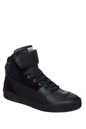 PUMA SE MCQ Move Mid Mens Mens Black Leather High Top Sneakers Shoes Black