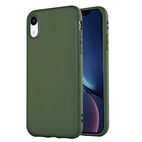 - iPhone XR Case,iPhone XR Phone Case, Manleno Slim Fit Full Matte Skin Case Soft Flexible TPU Silicone Cover Case for iPhone XR 6.1