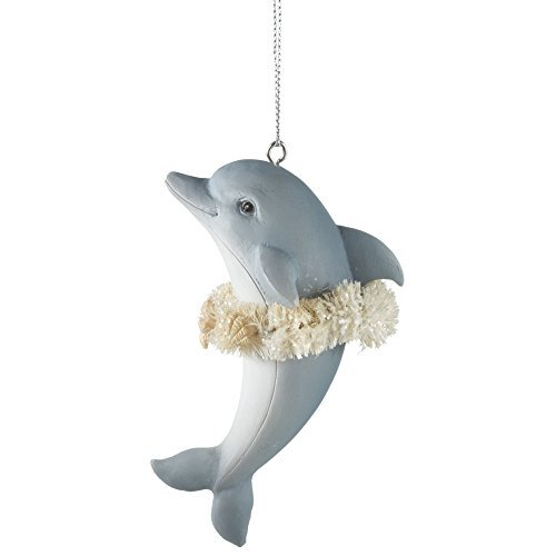 Dolphin Dancing Hula Ornament