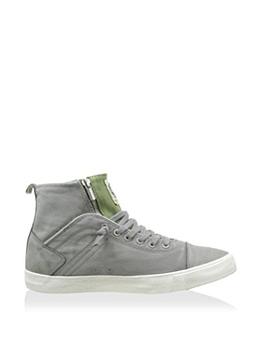 scarpe uomo COLMAR sneakers grigio / verde tessuto pelle AK544, Grigio / verde, 44