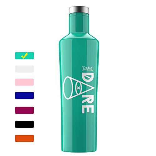 DoDo OUTDOOR Water Bottle | Stainless Steel | Vacuum Insulated Men/Women |Flask Bottle |Leak-Proof Double Walled Cola Shape | Narrow Mouth| BPA Free | Multi-Color | 17oz (Gloss Mint ()
