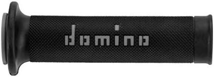 DOMINO Poign/ées de guidon moto route A010 soft bicolore noir//gris