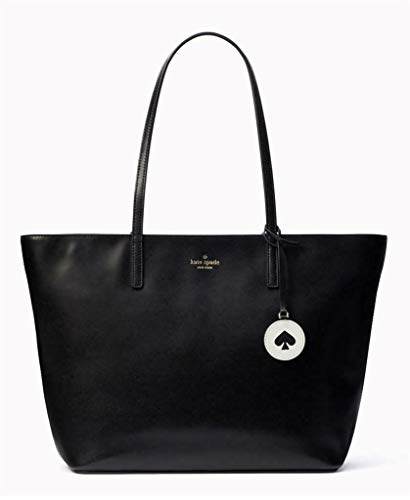 Kate Spade Tanya Leather Tote Bag Purse Handbag for Work School Office Travel (Black) -