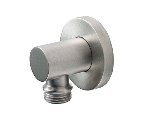 California Faucets SH-10-65-SN Decorative Supply Elbow - Round Base, Satin Nickel California Faucets Supply Elbow