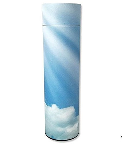 Memorials4u Path-to-Heaven Scattering Tube, Biodegradable Cremation Urn to Scatter Ashes - Affordable Urn for Ashes - Eco friendly Urn - Scatter Tube Cremation Urn Deal - Adult Size 12 inch Tall