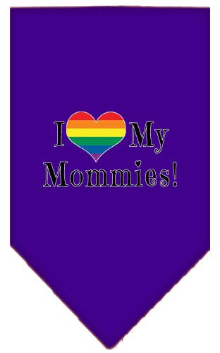 (Mirage Pet Products I Heart My Mommies Screen Print Bandana Purple Small)