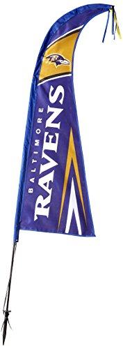 Baltimore Ravens Banner Fan (Fremont Die NFL Baltimore Ravens Feather Flag, 44