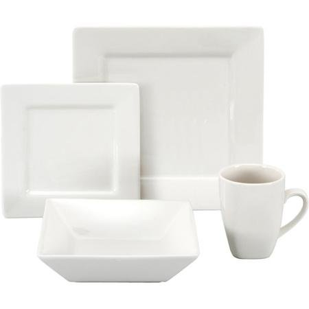 10 Strawberry Street Nova Square 16-piece Dinnerware Set, Cr