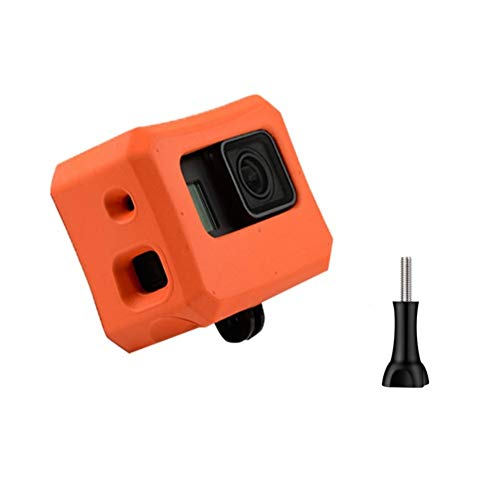 Makit Orange Floaty Case with Screw for GoPro Hero 7,Hero 6, Hero 5 and Hero 2018 Floating Accessories for Water Sports