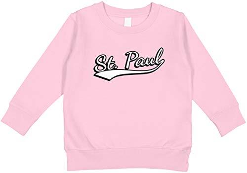 Amdesco St. Paul, Minnesota Toddler Sweatshirt, Pink 3T