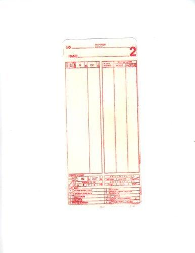 MJR Time Cards 000 - 099 bx 1000