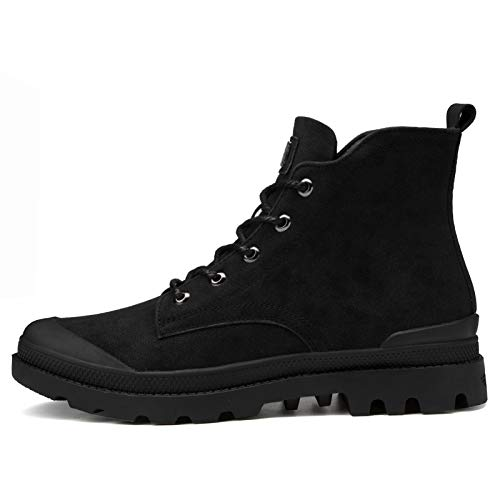 Pu Snow Tooling Black Autumn Botas Shoes Chelsea De Help To Men's Wild Hombre Mk8001 Martin Boots Leather High Shukun F8ptxqw6F