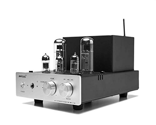 RFTLYS EA1A Headphone Amplifier & Integrated Amp Wireless Bluetooth EL34 Tube Class A Single-Ended (Silver) ()