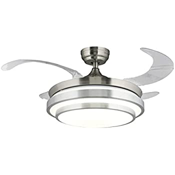 "36"" Ceiling Fan LED Light Kit Remote Control Four"