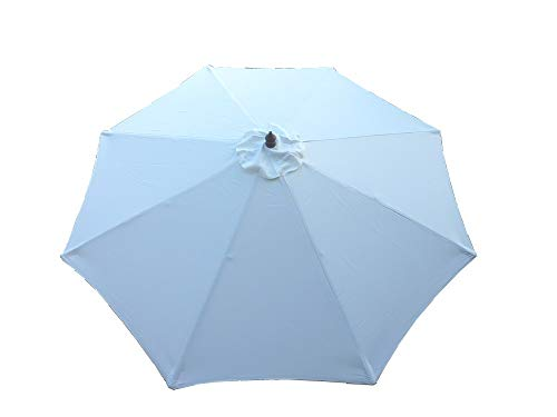Formosa Covers Replacement Umbrella Canopy for 9ft 8 Ribs Off White (Canopy Only)