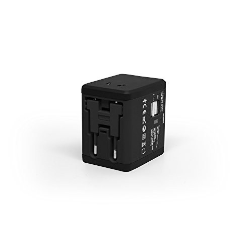 #1 Rated Travel Adapter and Charger - USB Charging Ports - Super Fast Charging - All International Standard Cell Phone/Desktop/Laptop/Touch Screen Tablet/Computer/GPS Chargers - Cosmos Black by VLG Products (Image #2)
