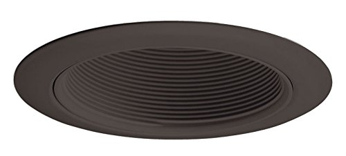 Juno Lighting 14B-BL 4-Inch Recessed Baffle Trim, Black Baffle with Black ()