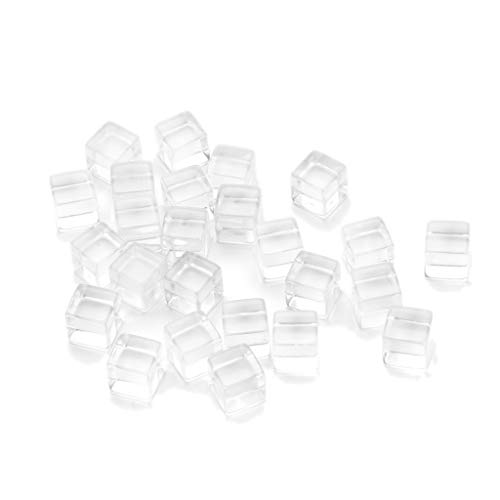 (25 PCS Transparent Dice Cube Resin Dice Polyhedral Game Dice D6 Multi Sided Dice for Dungeons and Dragons/Playing Game/Card Games/Party (Clear))
