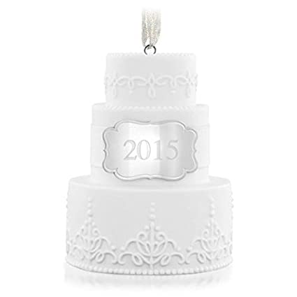 Amazon.com: Hallmark 2015   Wedding Cake Ornament   Keepsake