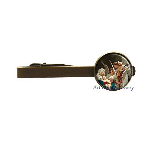 Christmas Jewelry,Christmas Tie Clip,Angels Photo Tie Pin Art Tie Pin Photo Jewelry Art Jewelry Glass Jewelry,RN351 (G2)