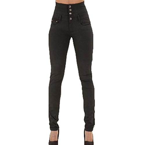 Straight Jeans Denim Negro Pantalones Tallas Grandes Cintura Streetwear Fashion Casual Vaqueros Moda Mujer Slim Largo Fit Alta Fit AT7RY