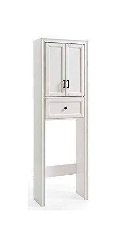 - Crosley Furniture CF7008-WH Tara Space Saver Bathroom Cabinet, Vintage White
