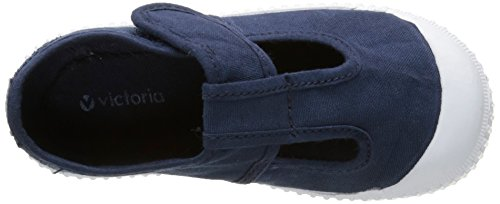 victoria Sandalia Lona Tintada Velcro Unisex-Kinder Sneaker Bleu (30 Marino)
