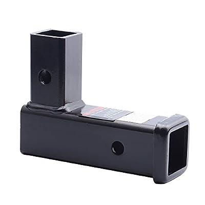 HITOWMFG Vertical Convert Horizontal Receiver Trailer Hitch Adapter 2