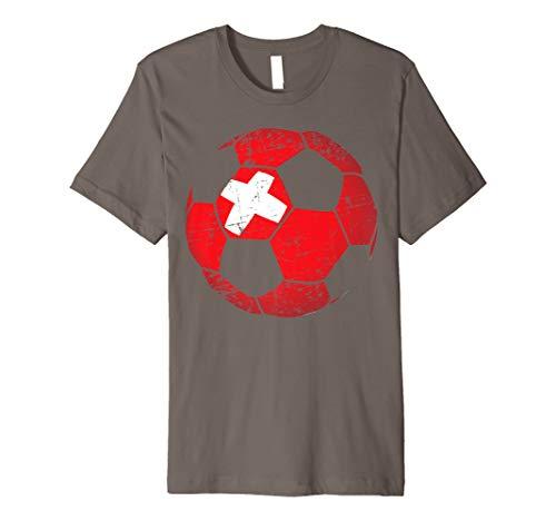 Switzerland Soccer Ball Flag Jersey Shirt - Swiss Football