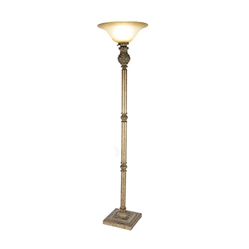 Gold Torchiere Lamp (Urban Designs 7763674 Timeless Style 74-Inch Torchiere Floor Lamp, Gold)
