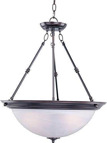 (Maxim Lighting 5846MROI, Essentials 3-Light Invert Bowl Pendant, Oil Rubbed Bowl)