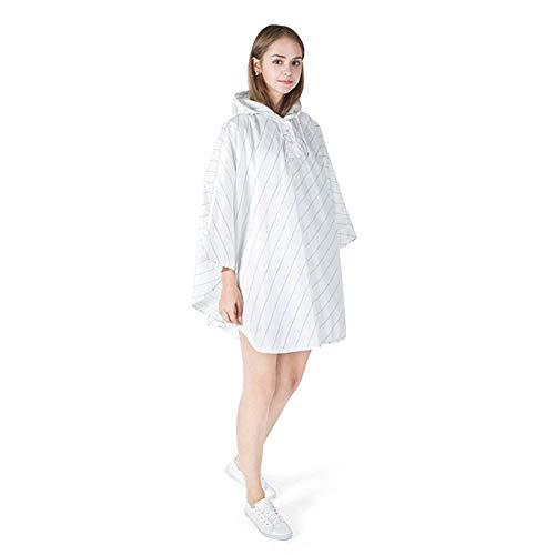 Imperméable Pluie Blanc Gear Capuche Unisexe De À Jeune Poncho Vêtements L'eau Anaisy qSwnaHIq