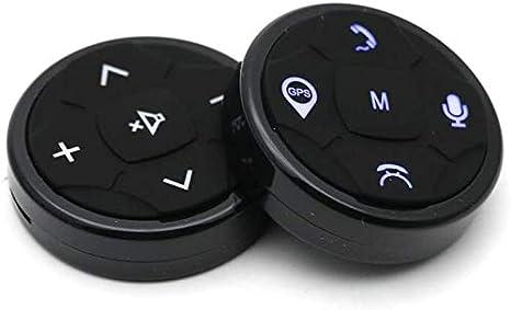 f/ácil instalaci/ón dise/ño t/áctil Mando a distancia para el volante del coche inal/ámbrico bot/ón de volante de 10 botones para la navegaci/ón del coche con mando a distancia